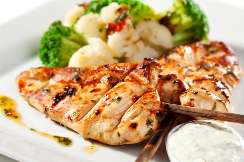 Lekki grillowany kurczak z warzywami