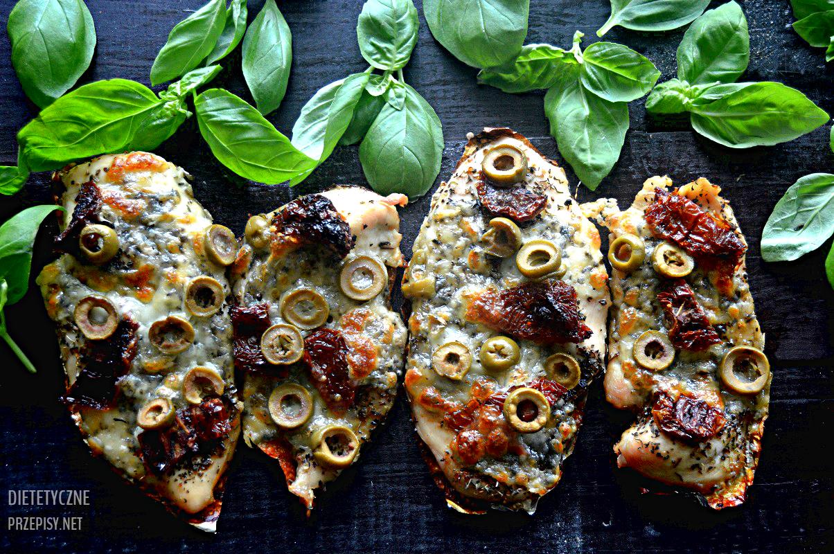 Pieczona Piers Z Kurczaka Z Suszonymi Pomidorami I Mozzarella