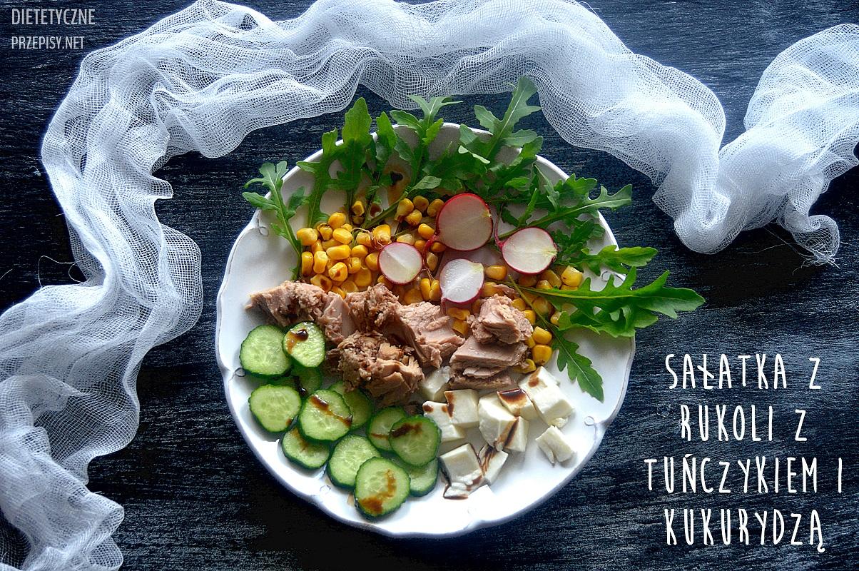Ekspresowa Salatka Z Rukoli Z Tunczykiem I Kukurydza